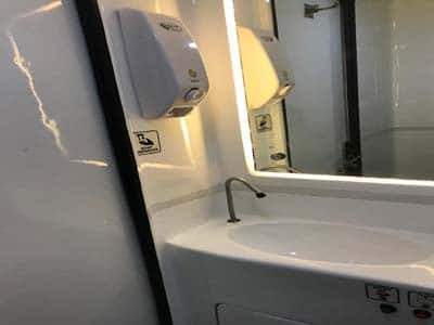 luxury mini bus with toilet
